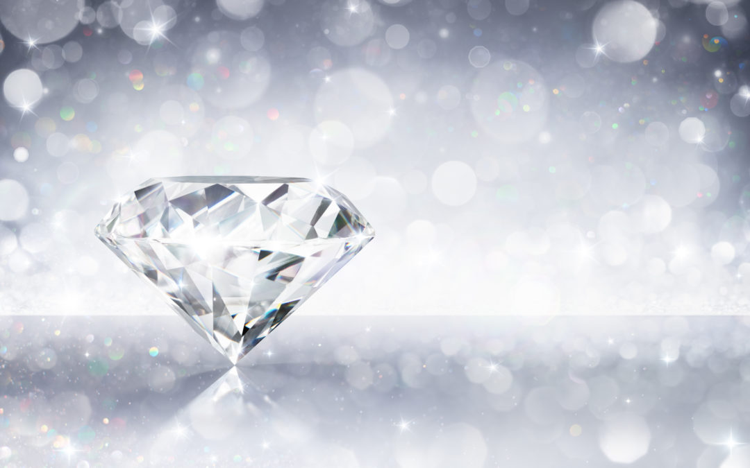 Diamond sparkling with clarity
